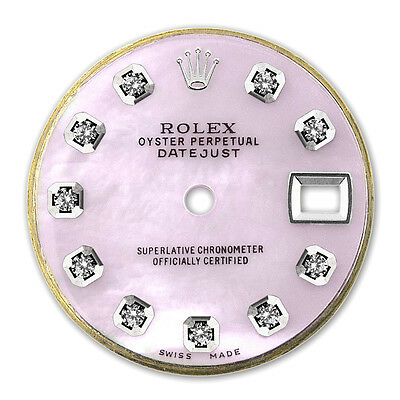 Rolex Ladies Datejust SS Pink MOP Mother Of Pearl Diamond Dial