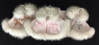 Beautiful Baby Girl's Pink Spanish Cape/Faux Fur Trim and Collar/Grey/Tan/Outfit