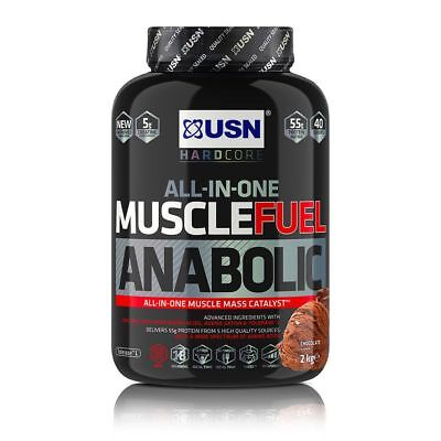 USN Muscle Fuel Anabolic All-In-One Muscle Mass Lean Gainer 2kg Protein Shake