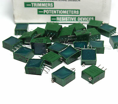 25x Vernitron Spindel-Trimmer / Print-Potentiometer 10 kOhm, Typ 752-2081, NOS