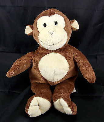 """TY Pluffies Dangles Brown Cream Monkey 2011 Plush Stuffed Animal Baby Toy 10"""""""
