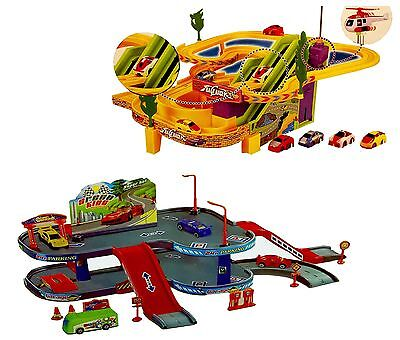 Car  Race Track / Car  Parking Garage With Vehicles