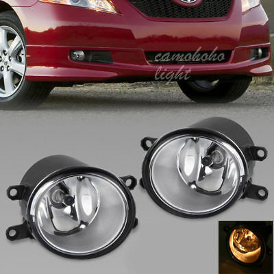 Pair For TOYOTA CAMRY COROLLA TACOMA MATRIX YARIS Clear Fog Light Driving Lamp
