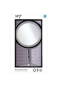 No7 ILLUMINATED MAKE UP MIRROR - BRAND NEWIN BOX SEALED RRP £49.99 (FREE P&P)