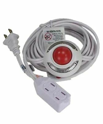 9 Ft 3 Outlet Lighted Foot Switch Extension Cord Power UL