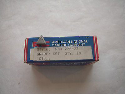 New Tpmr 222-23 American National Carbide Cermet Indexable Inserts 10 Pcs. 1Pack