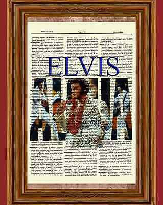 Elvis Presley Aloha Art Print Book Page Picture Poster Hawaii Concert 70's