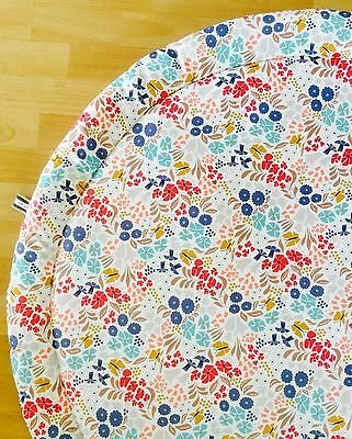Quilted Spring Floral Baby Round Tummy Time Play Mat Roundies Nursery Rug Toy
