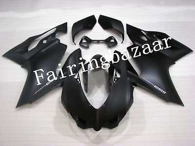 Fit for Ducati 1199 Panigale 2012 2013 Matte Black ABS Injection Fairing Kit