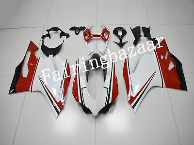 Fit for Ducati 1199 Panigale 2012 2013 White Red Black ABS Injection Fairing Kit
