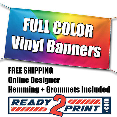 3' x 5' (2 SIDED) Full Color Custom Printed Banner, 18oz Vinyl - FREE SHIPPING