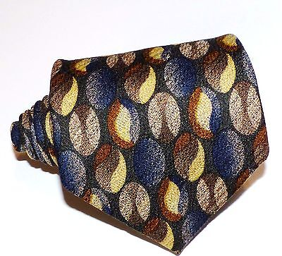 Hugo Boss Mens multi-color geometric 100% Silk Necktie  Made in Italy,unique