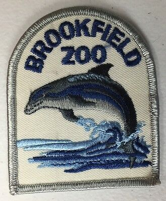 Vintage Brookfield Zoo Dolphin Patch Chicago Illinois Souvenir Embroidered