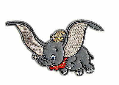 DUMBO IRON ON / SEW ON PATCH Embroidered Badge Cartoon ELEPHANT PT81