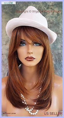 Large Cap Long  Wig Heat Safe Skin Top✯Color Som7002  Straight Classy Style 1073