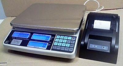 COUNTING SCALES with Printer  COMMERCIAL QUALITY H/DUTY UNIT  30KG/1G rrp $725