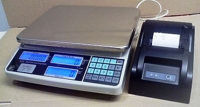 COUNTING SCALES with Printer  COMMERCIAL QUALTY  UNIT  30KG/1G rrp $725