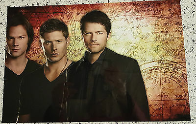 "Supernatural Dean  Sam & Castiel   8  X 12""  Photo  Poster  # 1"