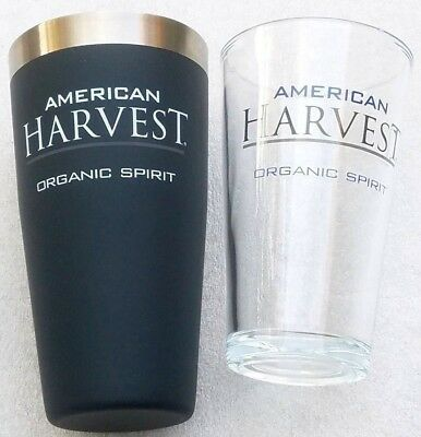 Cocktail Rubber Vodka Shaker cup with 16 oz Mixing Glass by American Harvest New
