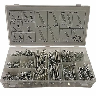 200pc Spring Assortment Set Compressed & Extended Carburetor Flat Zinc Plated