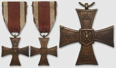 1496 POLAND WWII THE CROSS OF VALOR MOSCOW-type cat.L3 1944-45 rare - ORIGINAL