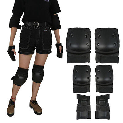 Skating Skateboard Roller Riding Knee Elbow Wrist Pads Protective Gear Guard New