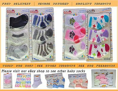 Wholesale Job Lot 36x  Pairs Baby Socks Supper Soft Cotton 0-6 Mixed Colours