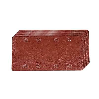 1/3 Punched Sanding Sheets 10pk Grit 80 Hook And Loop Aluminium Oxide