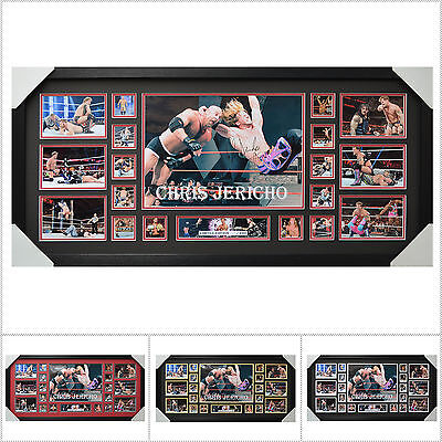 Chris Jericho Signed Framed Limited Edition Large Size  - Multiple Variations