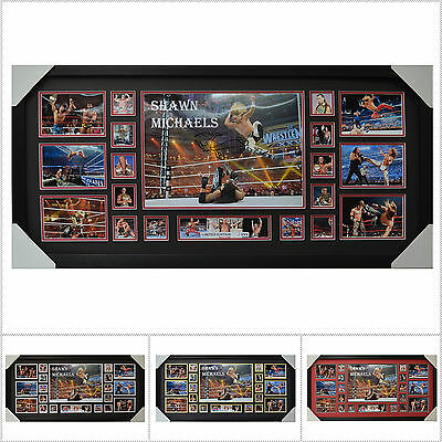 Shawn Michaels Signed Framed Limited Edition Large Size  - Multiple Variations