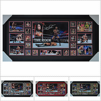 The Rock Signed Framed Limited Edition Large Size  - Multiple Variations