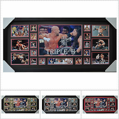 Triple H Signed Framed Limited Edition Large Size  - Multiple Variations