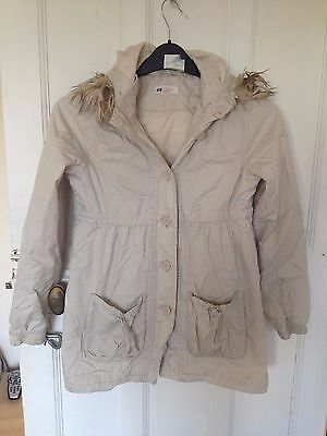 girl h & m coat good condition size 11-12 years