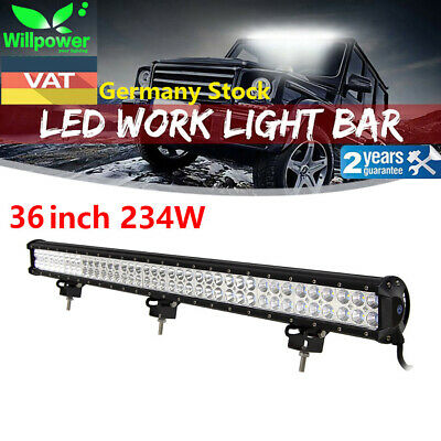 36inch 234W LED WORK LIGHT BAR FLOOD&SPOT COMBO OFFROAD Car Boat Truck SUV 4X4WD
