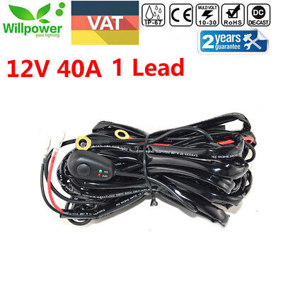Wiring Harness Kit 25A 12V ON / OFF Switch Relay For 72W~300W LED Work Light Bar