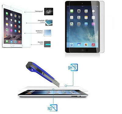 Genuine 9hTempered Glass Screen Protector for iPad 2/3/4,Mini 2/3/4/Air/Air2/Pro