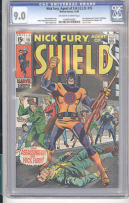 Marvel Comics NICK FURY, AGENT OF S.H.I.E.L.D. #15 CGC SS 9.0 OW-White Pages