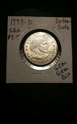 1999-D Susan B Anthony Dollar!!! GEM GEM BU+++ Nice Coin!!! LOOK!!!