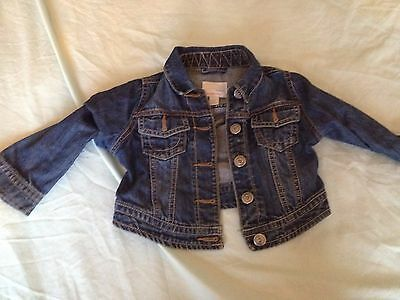 girls next denim jacket good condition size 3-4 years