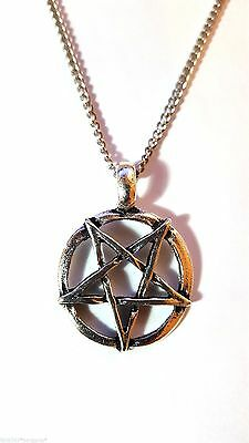 Inverted Pentagram 2nd Degree Sigil of Baphomet Pentacle Quality Curb Chain   d5