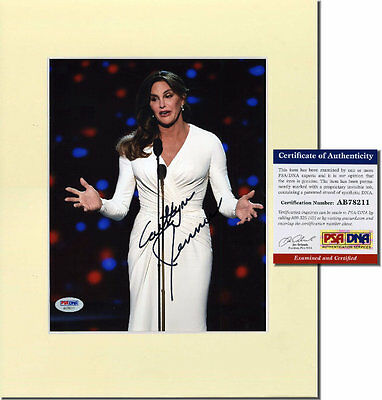 CAITLYN JENNER Hand Signed, Matted 8x10 - PSA/DNA COA - UACC RD#289