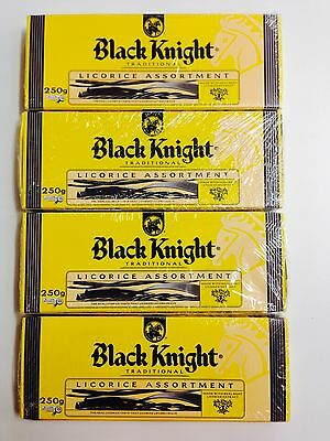 4 x 250g PACKETS OF BLACK KNIGHT TRADITIONAL - LICORICE ASSORTMENT
