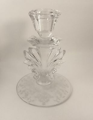 Fostoria Crystal Clear Navarre Single Candlestick Candle Holder s