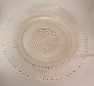 Macbeth Evans Depression Pink Glass Petalware Dinner Plate s 9""