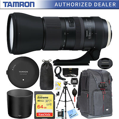 Tamron SP 150-600mm Di VC USD G2 Zoom Lens for Nikon + Tap In Console 64GB Kit