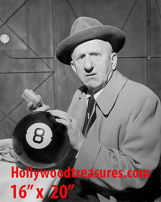 "Jimmy Durante~8 Ball~Billiards~Shooting Pool~Playing Pool~Photo~Poster 16"" x 20"""
