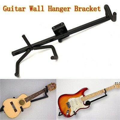 Horizontal Guitar Wall Hanger Bracket Electric Ukulele and Acoustic Bass Guitar