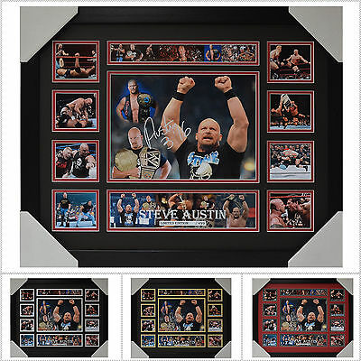 Steve Austin Signed Framed Memorabilia Limited Edition V1 Multiple Variations