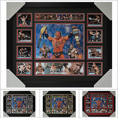 Triple H Signed Framed Memorabilia Limited Edition V1 Multiple Variations