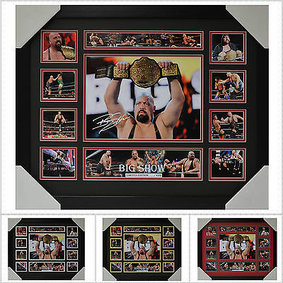 Big Show Signed Framed Memorabilia Limited Edition V1 Multiple Variations